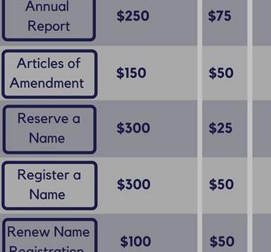 Reduction in LLC Filing Fees