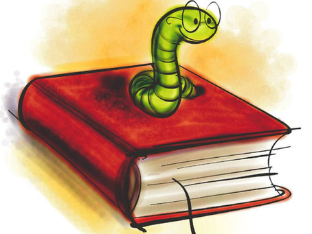 Book worms - more like book snakes