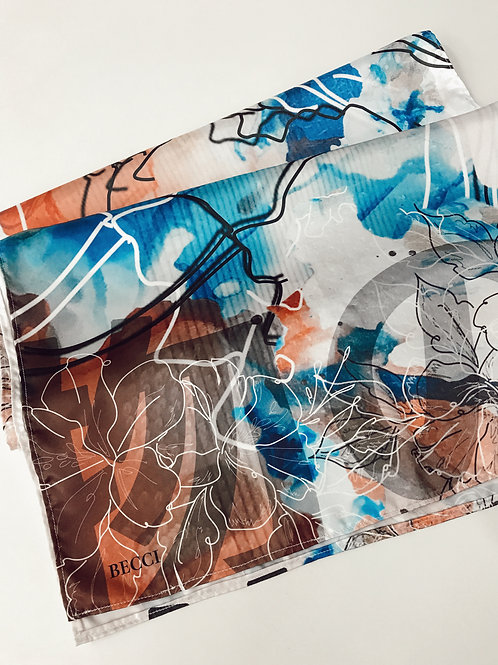 Polyester Satin Printed Scarf