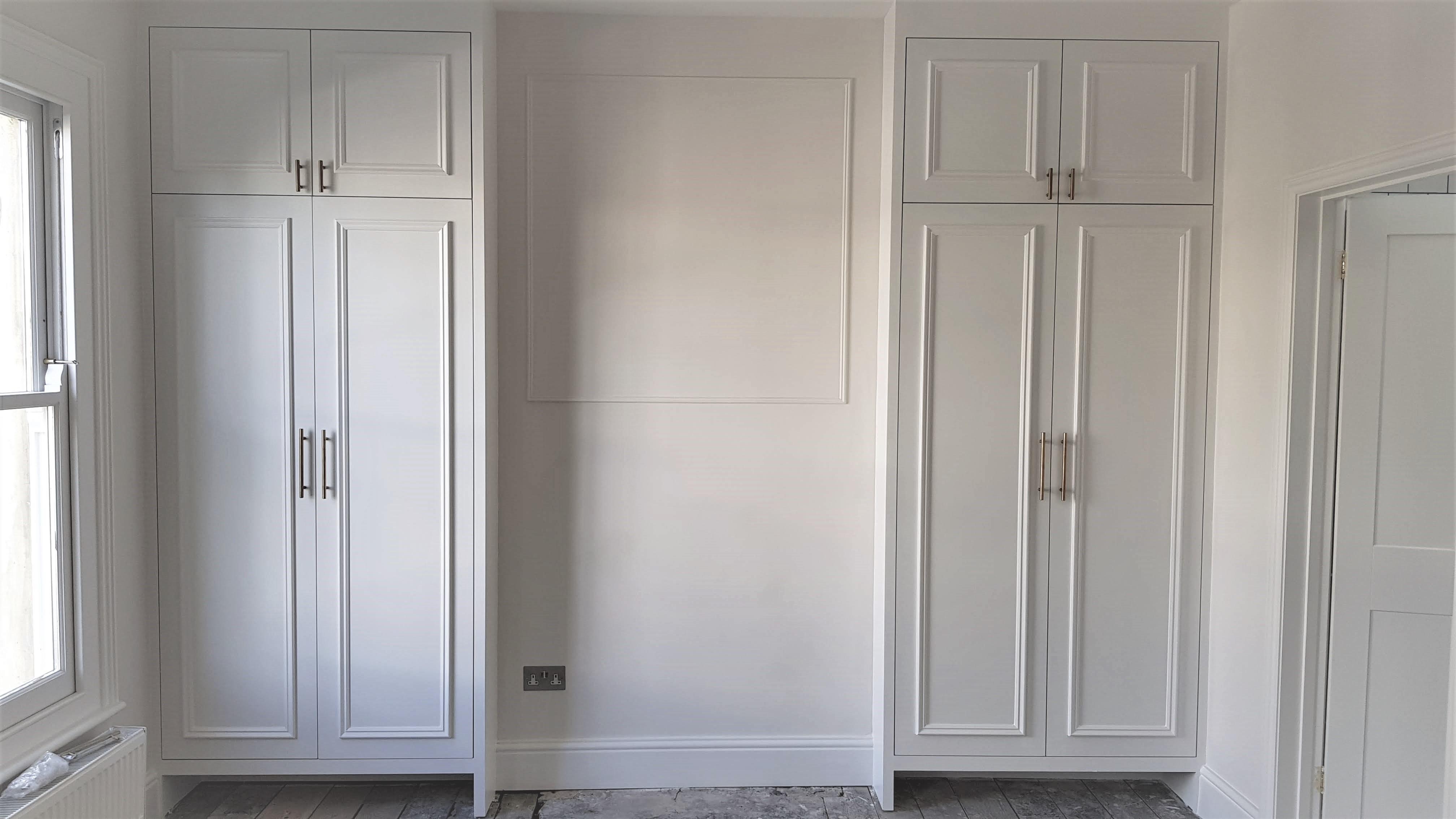 Bespoke white wardrobes omilian carpentr