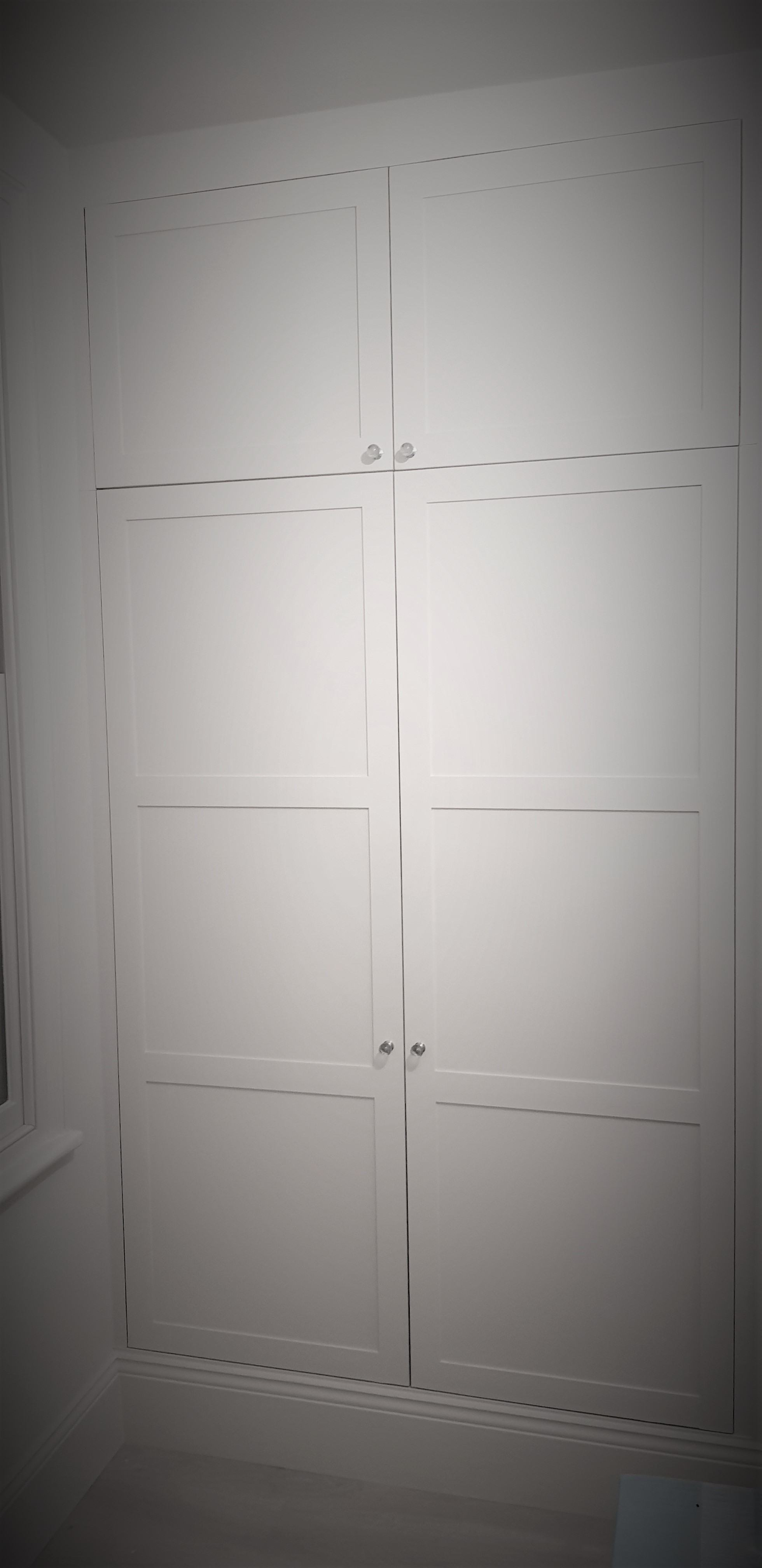 Bespoke wardrobe shaker style painted wh