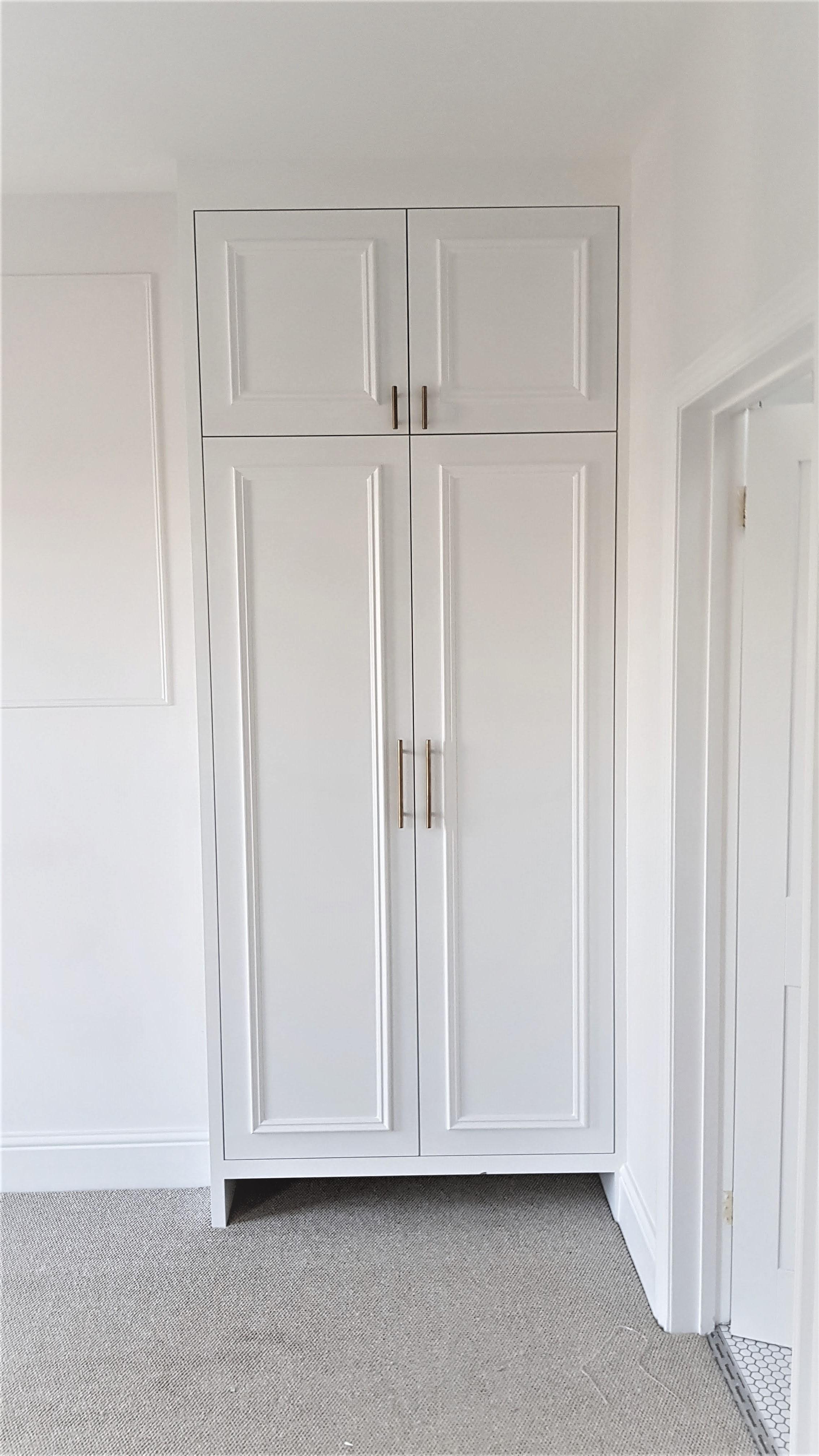bespoke white wardrobe omilian