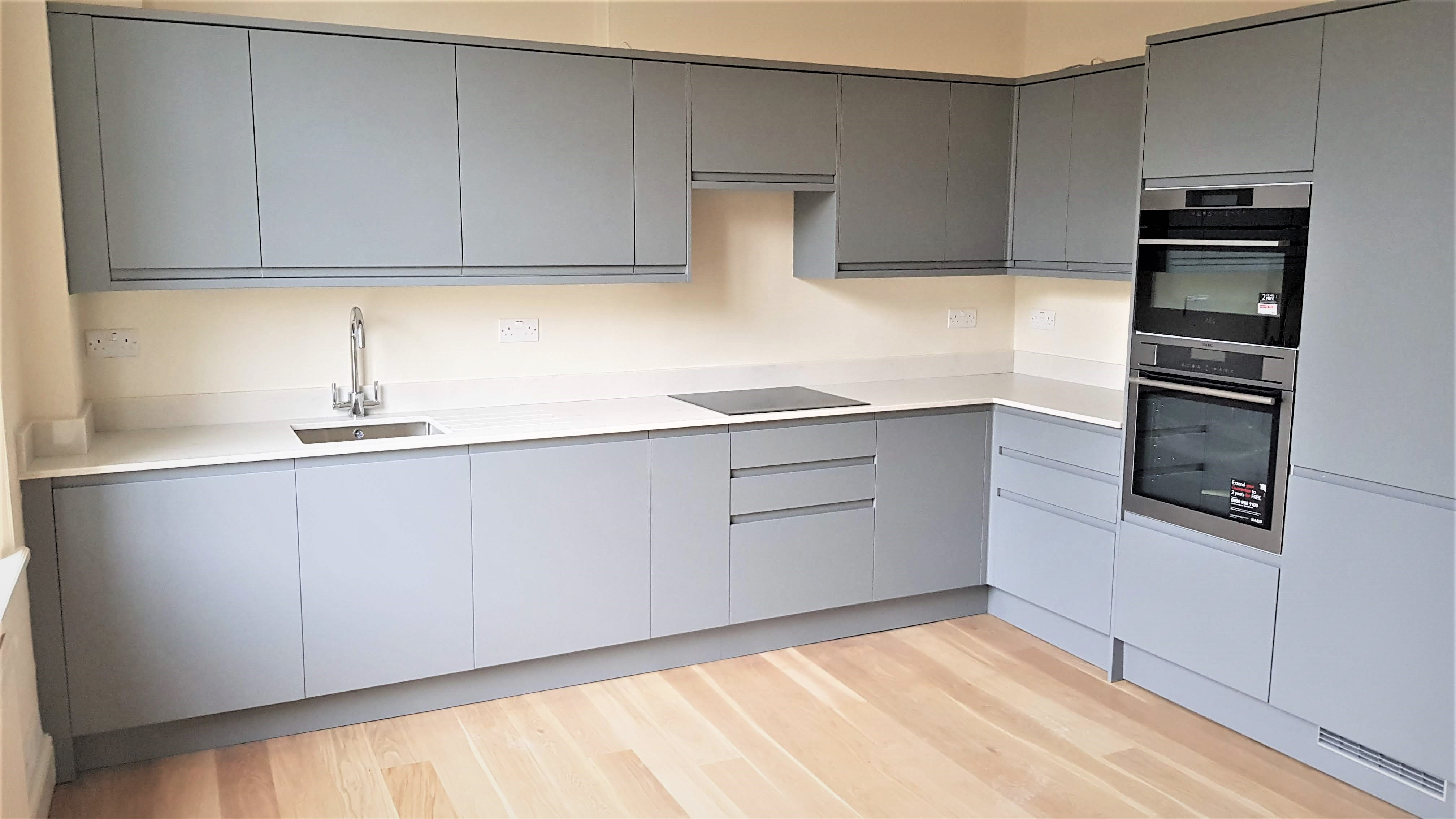 Grey Kitchen Installation