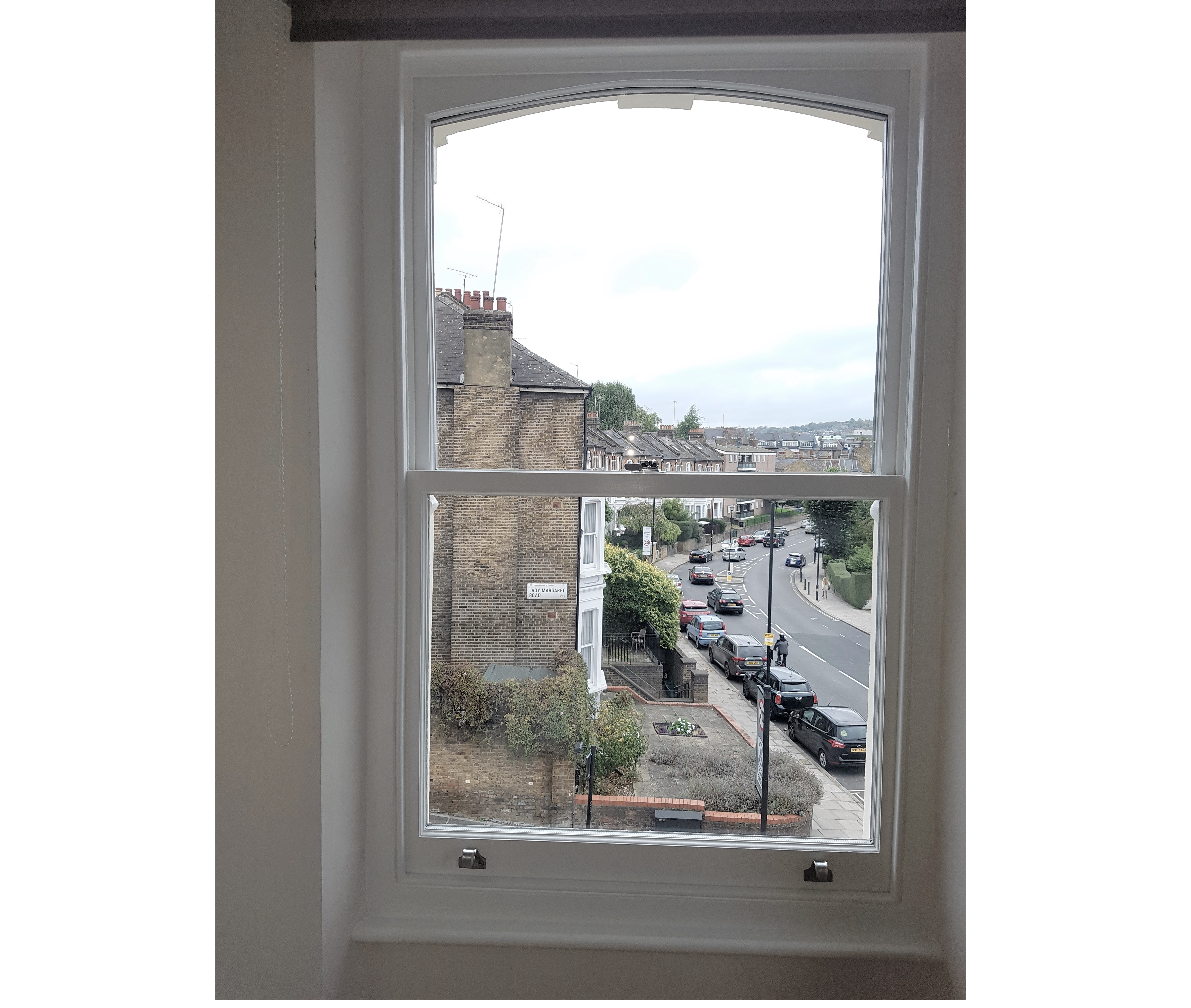 new sash window painted white