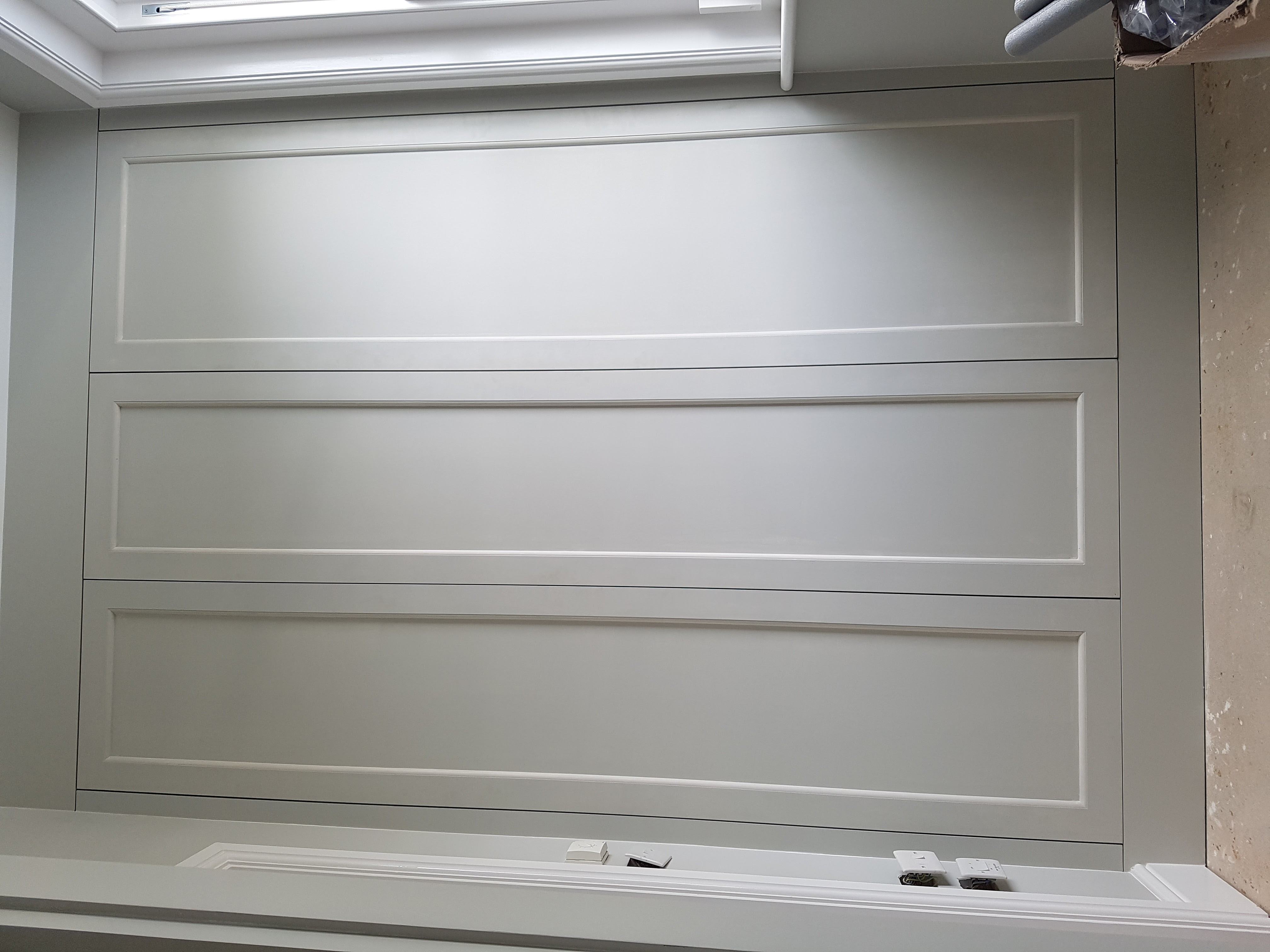 bespoke wardrobe painted white
