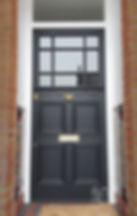 Bespoke hand made front door black painted