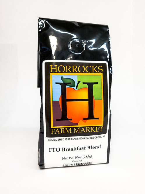 Fair Trade Organic Breakfast Blend Ground 10oz