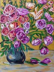 Florals in Black Vase