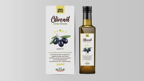 Flaschenetiketten Olivenöl