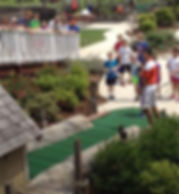 Junior golf miniature golf tournament is intense!