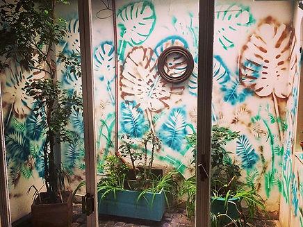 Mural hecho en Livian guest house pedido