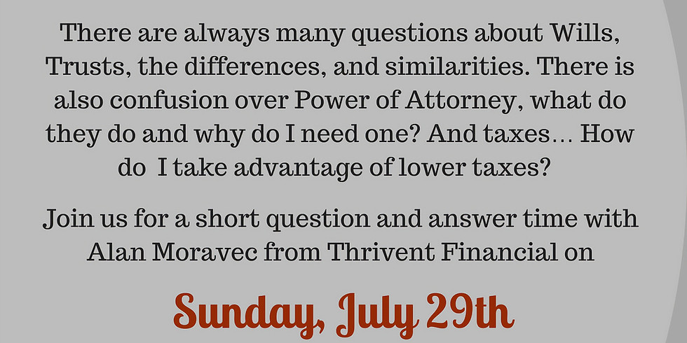 Wills, Trusts, Powers of Attorney and Taxes Workshop