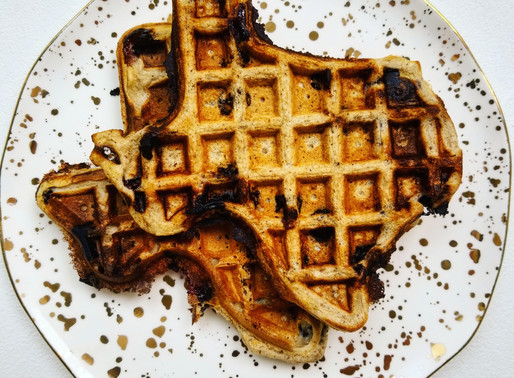 Blueberry Flaxseed Waffles