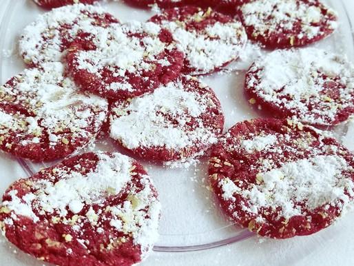 Vegan Christmas Crinkle Cookies