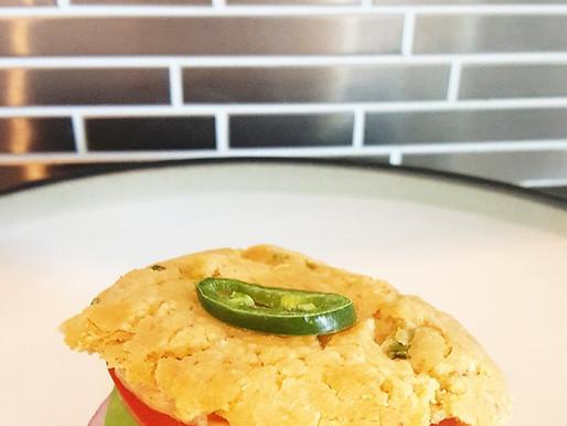 Spicy Veggie Biscuit Sandwich