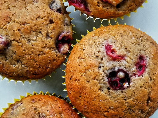 blood orange cranberry muffins