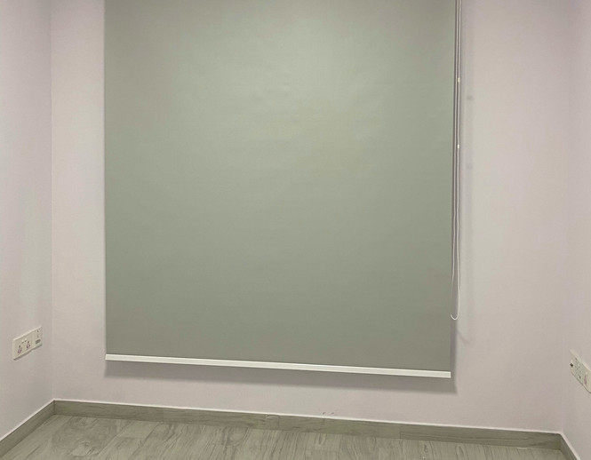 Grey Black Out Roller Blinds - END CURTAIN Singapore