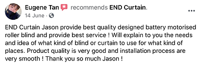 Customer Reviews - END CURTAIN Singapore