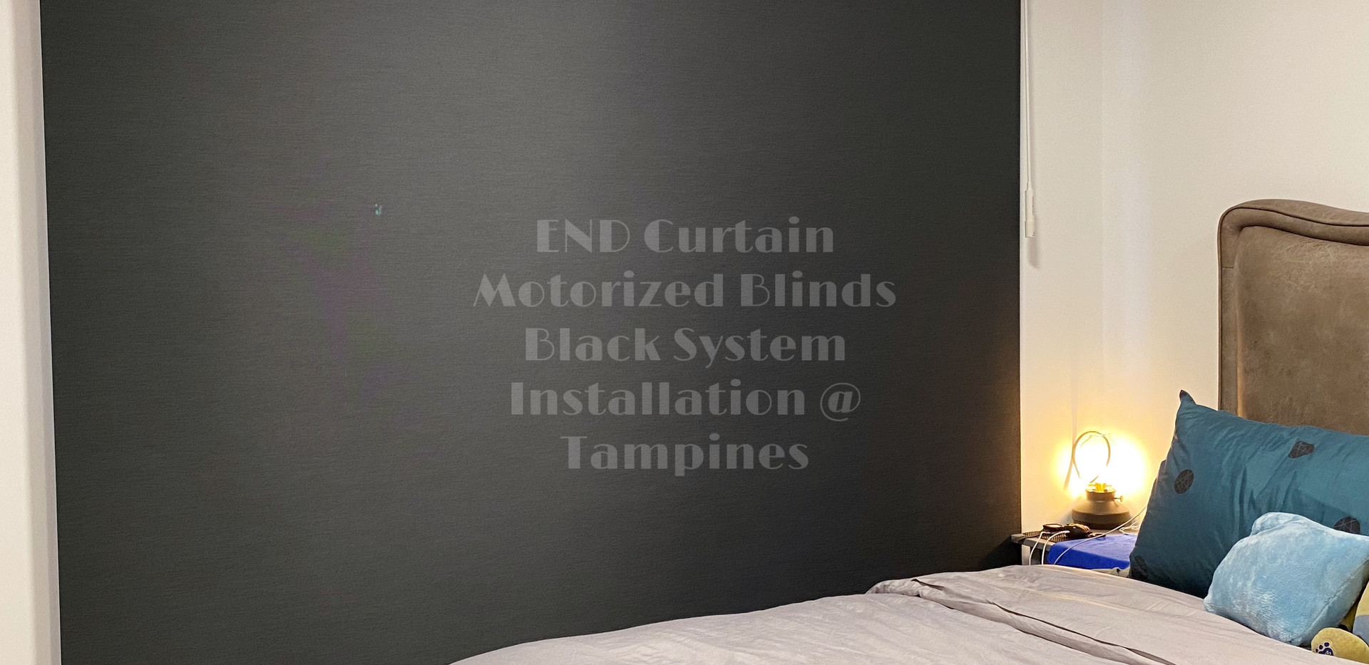 Black Out Roller Blinds with Pelmet and Black System - END CURTAIN Singapore