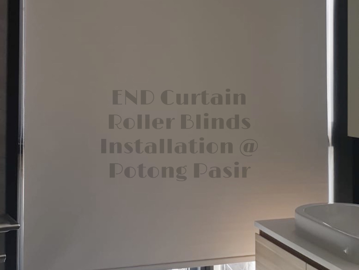Beige Black Out Roller Blinds - END CURTAIN Singapore