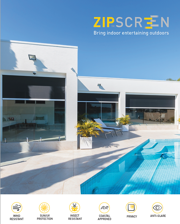 Australian designed, made and celebrated, Zipscreen has thrived to deliver cutting-edge technology and go beyond the average outdoor shade solution.   Developed in 1988, our patented zip-guided system, z-LOCK™, is the only one of its kind and has prevailed over the last 3 decades to be one of our most distinguishable differences, and a true benchmark for our innovative design. Patented z-LOCK™ technology provides a fabric guide like no other. Concealed within the channels, z-LOCK™ fastens the fabric securely, creating a strong smooth and streamlined finish. Tightly integrated , our zip-guided system ensures there are no gaps between the fabric and the channels, while ensuring a movement that won't blow out in the wind. Zipscreen's z-LOCK™, combined with the bottom sealing strip creates a total seal and a relaxing insect free environment.