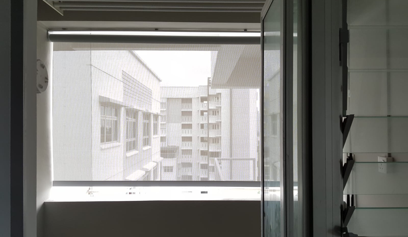Outdoor Roller Blinds for Service Yard - END CURTAIN Singapore
