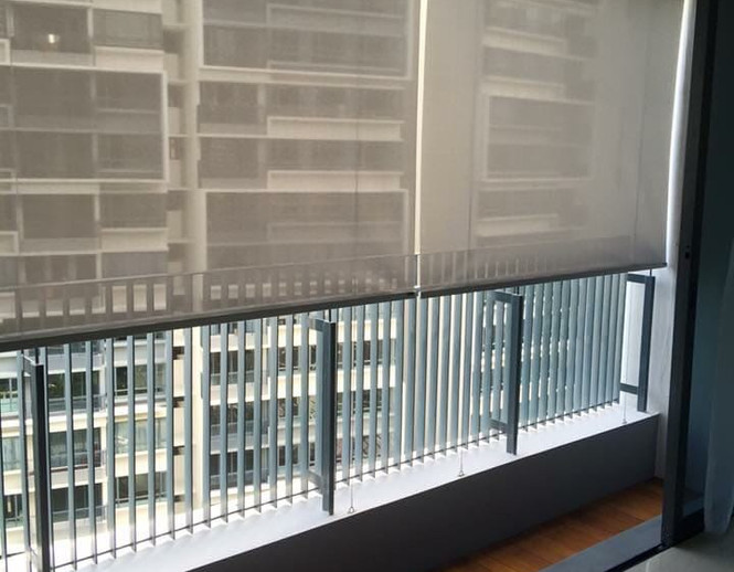 Outdoor Roller Blinds for Balcony - END CURTAIN Singapore