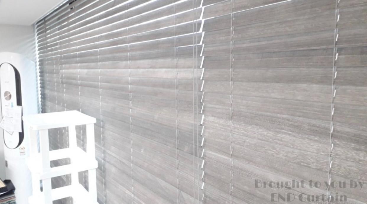 Natural Wood Timber Venetian Blinds - END CURTAIN Singapore