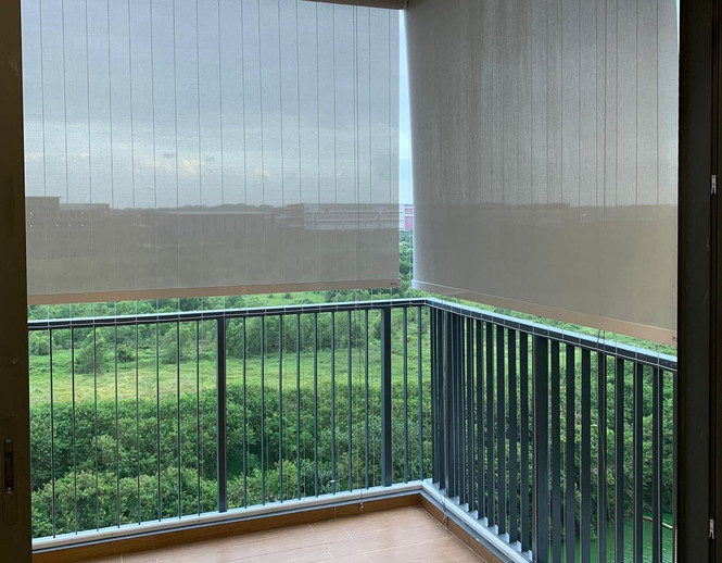 Outdoor Roller Blinds - END CURTAIN Singapore