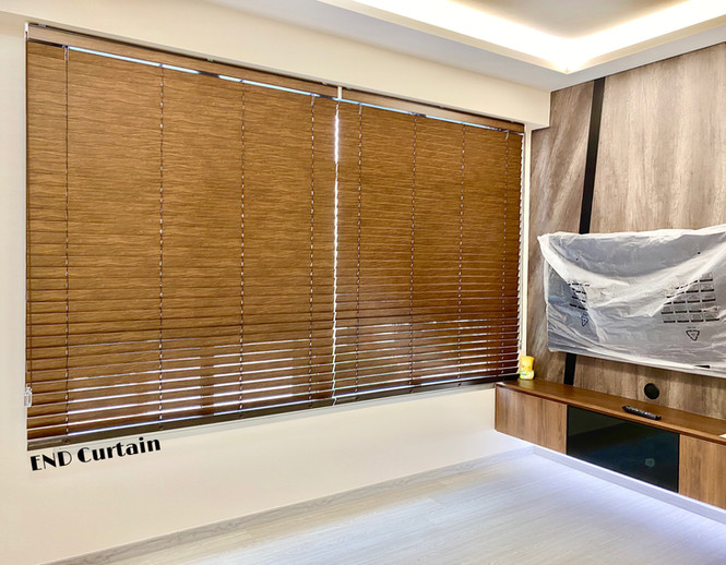 Korean Brown Venetian Blinds - END CURTAIN Singapore