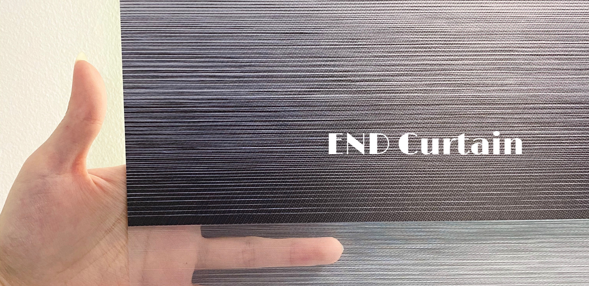Black Out Korean Combi Blinds Close Up - END CURTAIN Singapore
