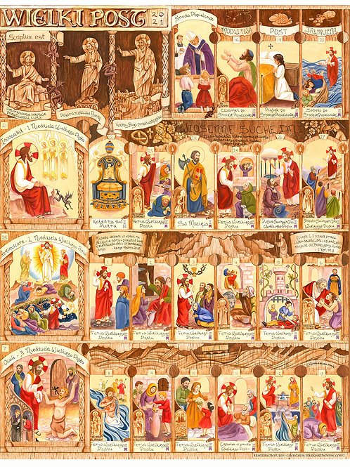 Polish Illustrated Lent Calendar 2021 (2 parts)