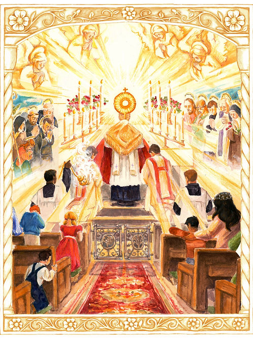 Holy Eucharist April Dedication Image