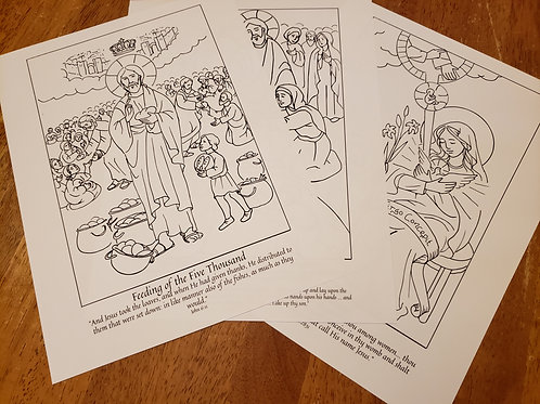 Lent 2021 Coloring Page Collection