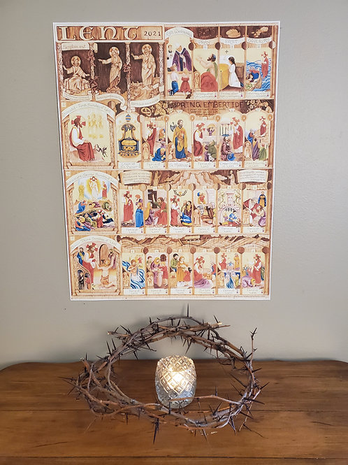 Illustrated Lent Calendar 2021 (2 parts)