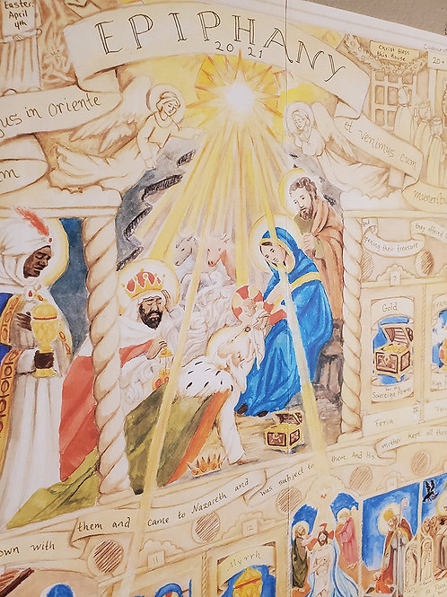 Illustrated Epiphany Calendar 2021 (2 parts)