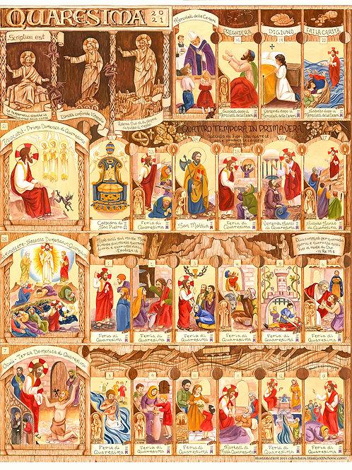Italian Illustrated Lent Calendar 2021 (2 parts)