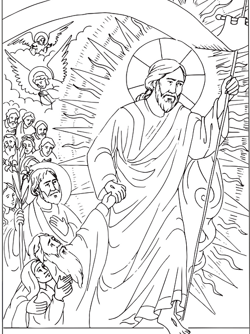 Easter 2021 Coloring Page Set