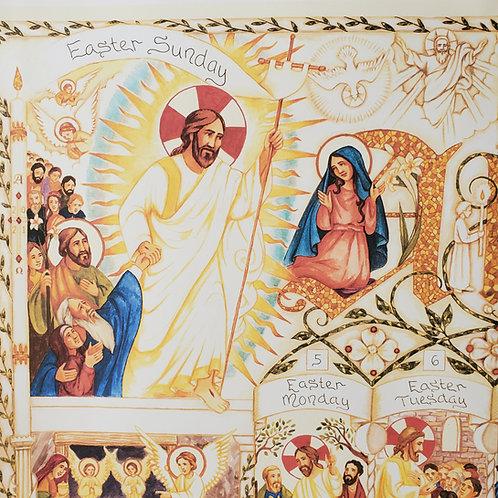 Illustrated Easter Calendar 2021