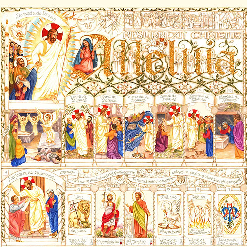 French Illustrated Easter Calendar 2021