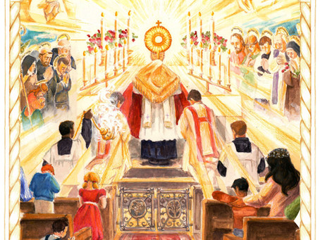 For the month of April, dedicated to the Holy Eucharist