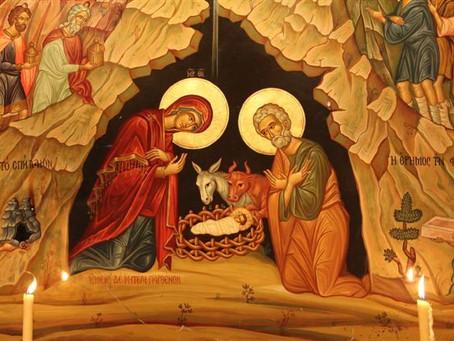 Laeténtur caeli, et exsúltet terra ante fáciem Dómini: quóniam venit.  - Offertory of Midnight Mass