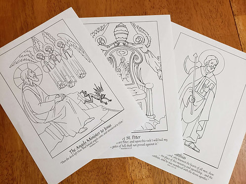 Coloring Page Collection for Lent 2021 Part 1