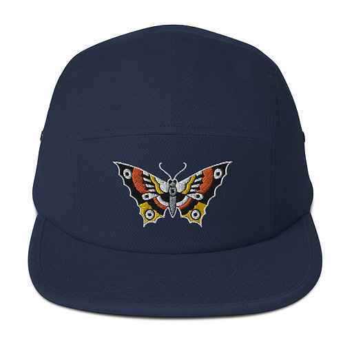 Butterfly Embroidered Five Panel Cap