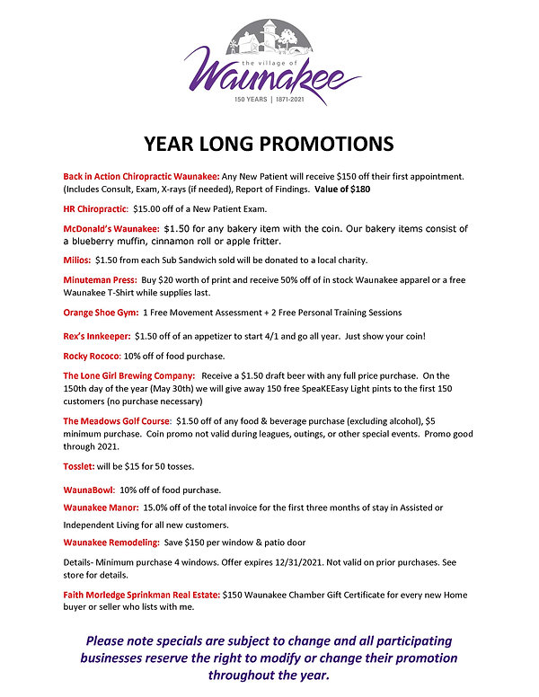 Waunakee 150 Promotions - Current_Page_1