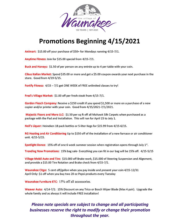 Waunakee 150 Promotions - Current_Page_2