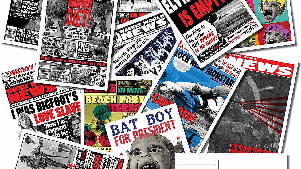Weekly World News Postcard Pack