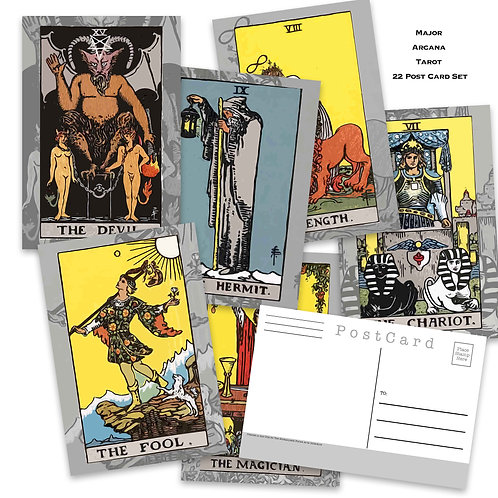 Major Arcana Tarot Postcard Set - Set of 22 Postcards - The Major Arcana