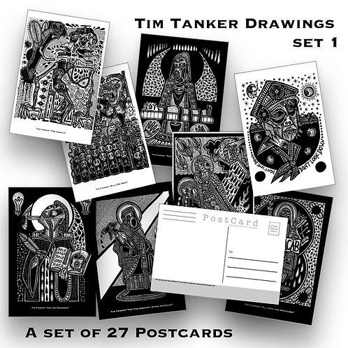 Tim Tanker Drawings - Pack Of 27 Postcards