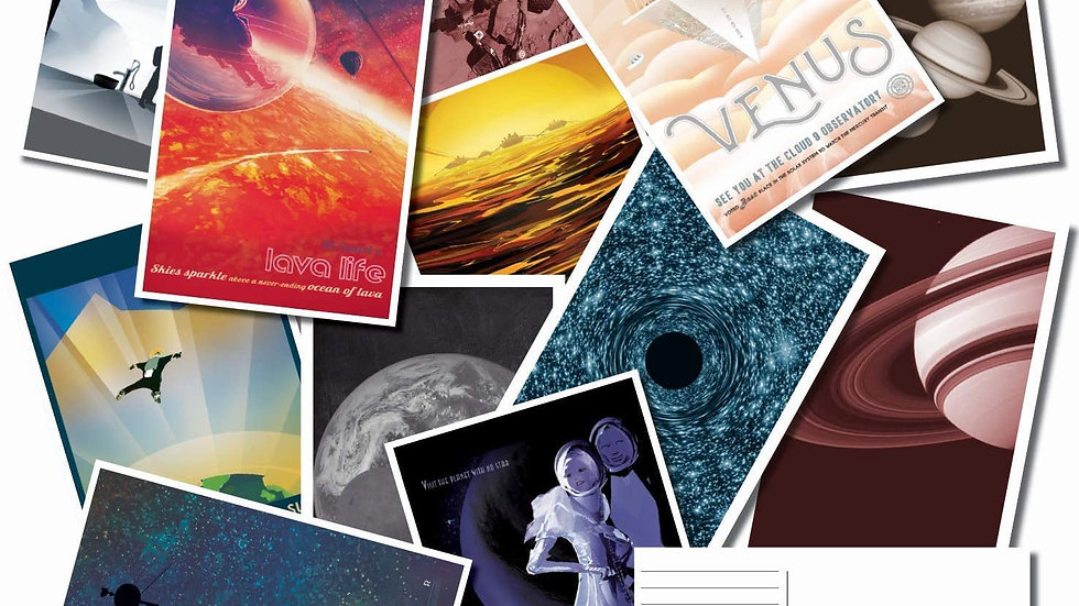 Pack Of 25Space Themed Postcards